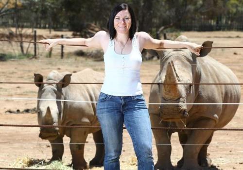 Anna Meares backs Australian Rhino Project at Monarto Zoo