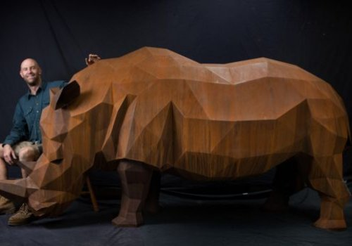 The rhino created to help bring hope to rhinos